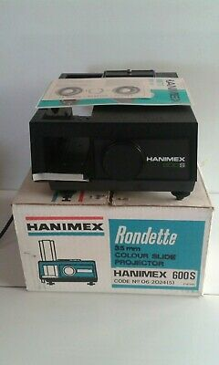 Hanimex  Rondette 600S 35mm Colour Slide Projector with manual.