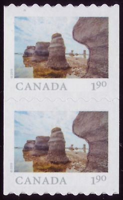 CANADA 2019 'From Far and Wide'-2, coil Pair, $1.90 Mingan Archipelago Park MNH