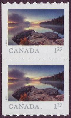 CANADA 2019 From Far and Wide-2, coil Pair with #, $1.27 (USA) Smoke Lake MNH