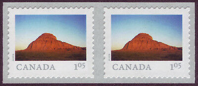 CANADA 2019 From Far and Wide -2, coil Pair with #, $1.05 Big Muddy Badlands MNH