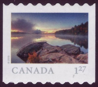 CANADA 2019 From Far and Wide -2, coil Single with #, $1.27 (USA) Smoke Lake MNH