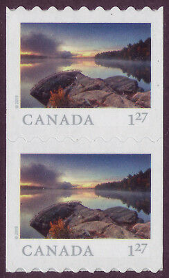 CANADA 2019 From Far and Wide -2, coil Pair, $1.27 (USA) Smoke Lake, Ont MNH