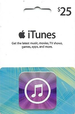 iTunes Gift Card $25 US Apple | App Store Key Code| American USA | iPhone etc..