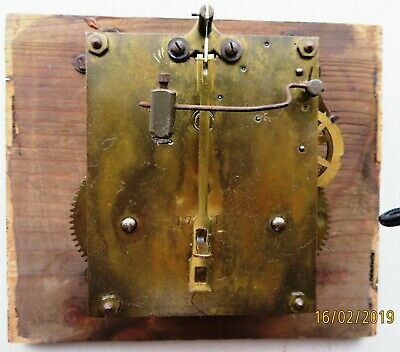 Badische Uhrenfabrik  Baduf  clock movement face hands gong vintage antique(?)
