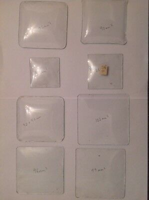 Clock Glass Square Collection 8 Clockmakers Spare Parts Sizes In Photos