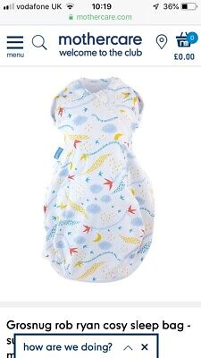 Grobag 2 in 1 Swaddle (Newborn - Cosy)