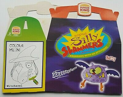 Vintage - Rare - 1999 -  Burger King Uk - Silly Slammers - Kids Meal Box - New
