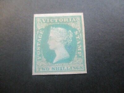 Victoria Stamps: 2/- Green Imperf Mint Wood Blocks   (o68)