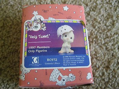 1997 Precious Moments Figurine - Holy Tweet #BC972 - Members Only - Bird