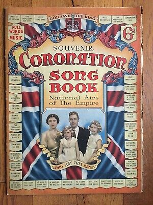 Sheet Music - Souvenir Coronation Song Book 1937 National Airs of The Empire