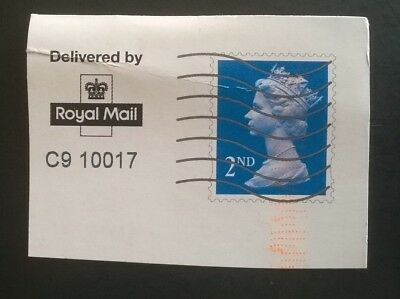 1 Gb Used Blue 2Nd Class Printed Stationery Dark Shade Stamp Unusual Postmarks