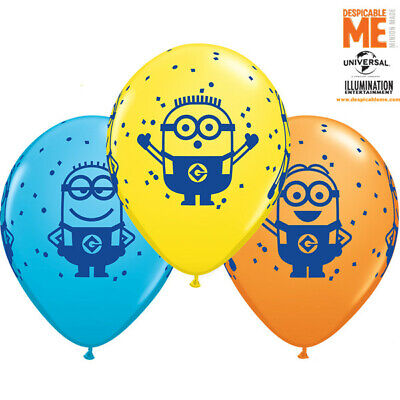 Minions para Despicable Me 27.9cm Qualatex Globos Látex X 5