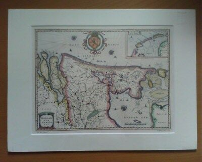 Reproduction Map of Part of the Netherlands Holland Golden Age Rembrandt