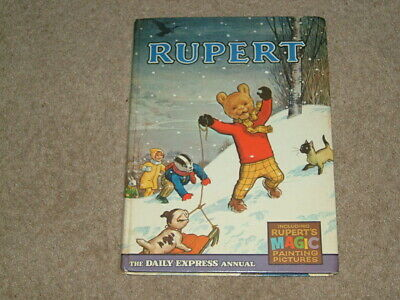 RUPERT ANNUAL 1967 with MAGIC PAINTING PAGES.
