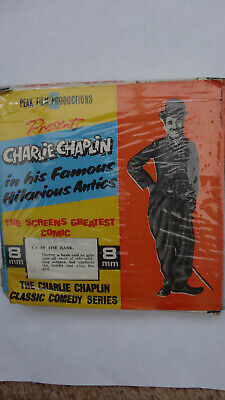 """Charlie Chaplin 8mm Black and White One Reeler Cine Film """"In The Bank"""""""