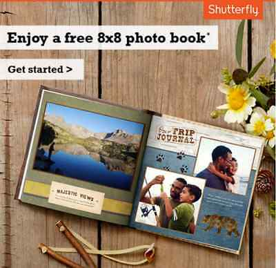 Shutterfly 8X8 Hard Cover Photo Book Code exp 2/28/19