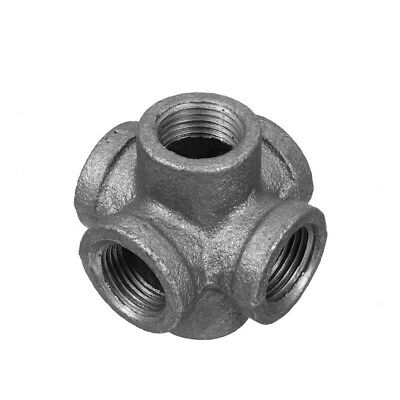 6 Way G1/2 Inch DN15 Industrial Iron Valves Pipes Fittings Furniture Rack DIY De