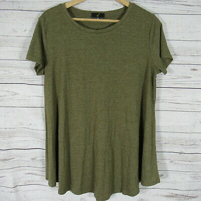 G21 Shirt Top Womens Medium M Ribbed Army Green