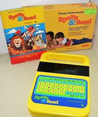 vintage SPEAK and READ Texas Instuments Readers Learning Toy + Cartridge + Box