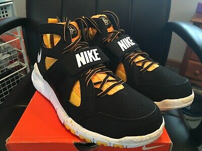 8ba93d31ea53 PITTSBURGH STEELERS NIKE Huarache Free Shield Shoes Size 10.5 ...