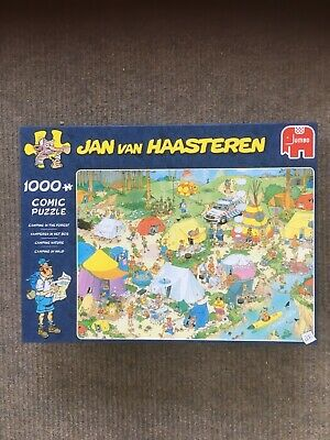 1000 Piece Jigsaw Puzzle - Jan Van Haasteren - Camping In The Forest