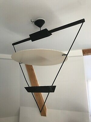 1985 Design Botta Moderniste Artemide Mario Triangle Ancienne Lampe Suspension CBrxoed