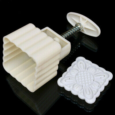 Square 125g Moonake Baking Mooncake Pastry Mold Biscuit Cake Hand Press Mould Fl