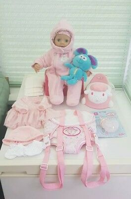 Zapf Creation Baby Annabell  Interactive Doll 2010 Version 6 Accessory Bundle