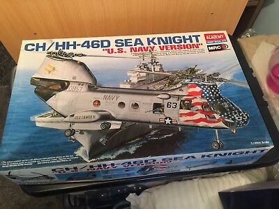 """Academy 1:48 CH/HH-46D Sea Knight """"US Navy Version"""" Helicopter Model Kit"""