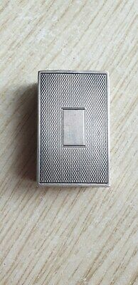 Antique Sterling Silver Match Box Cover Case