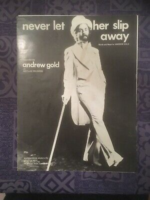 Never Let Her Slip Away, Andrew Gold, Original Sheet Music, C1978