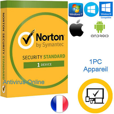 NORTON SECURITY STANDARD 2019 1PC 1AN originale seulement par Email
