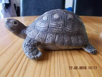 Poole stoneware tortoise by Barbara Linley Adams, 15cm long, signed LL