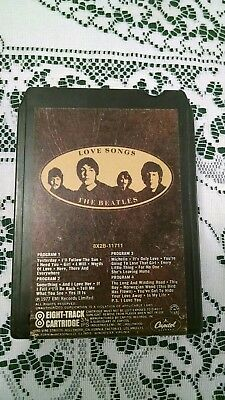 The Beatles Love Songs 8 Track 8X2B-11711 Apple Lennon McCartney Harrison Starr