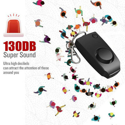 Anti-rape Device Alarm Loud Alert Attack Panic Keychain Safety Personal Easy