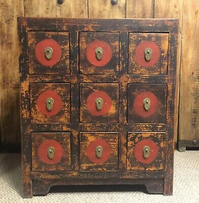 Antique Chinese Herbal Medicine Cabinet