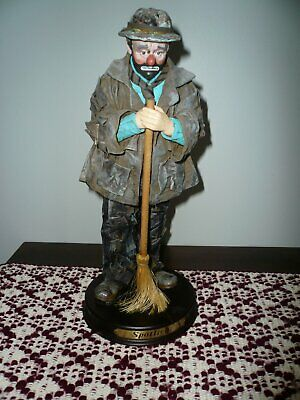 "Emmett Kelly Spotlight Custom 12"" Clown Figure Limited Edition 2268/5000 Circus"
