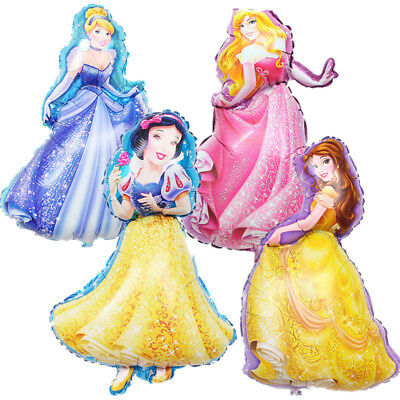 "37""Disney Princess Foil Balloons Birthday Party Decorations Supplies Girls Belle"