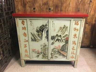 Vintage Chinese Hand Painted Cabinet