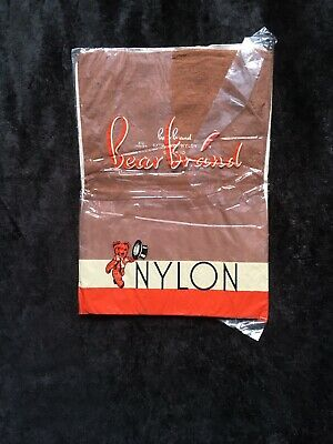 Vintage Bear Brand Nylon Seamed Stockings