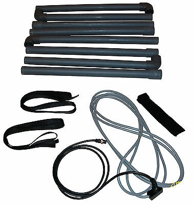 Universal 110x110cm. square coil cable+pipes  for Pulse Induction metaldetector