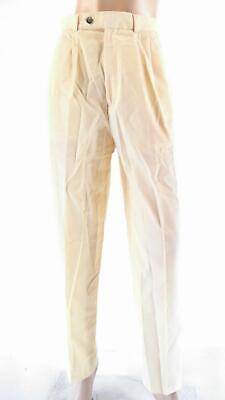 Lands End Womens size 12 Pocket Flat Front Khaki Chino Pants Tapered Beige CHOP
