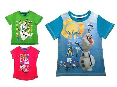 Disney Frozen T Shirts Tops Summer Clothing Holiday Childrens Boys Girls Size