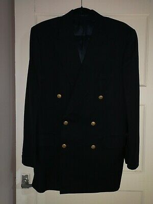 Vintage Burberry Double Breasted Suit Jacket Blazer. Fits Like A Large 44