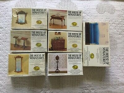 House Of Miniatures Dollhouse Furniture Kits, Seven, NIB, 1:12