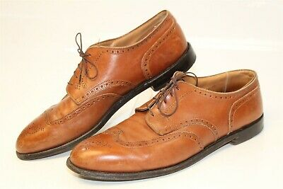5f9c2032d4 Alden New England USA Handmade Mens 13 B D Brown Leather Wing Tips Oxfords  Shoes