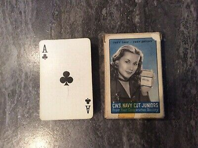 """Full Pack Of """"C.w.s. Navy Cut Juniors"""" Cigarette Advertising Playing Cards."""