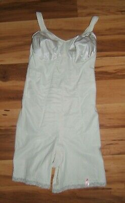 Vtg Slimlook By Smoothie White Bodyshaper Girdle Sz 36B