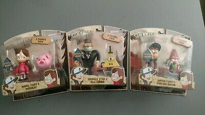 All 3 Disney Gravity Falls  Action Fig.2-Paks MINTCOND. Dipper Grunkel & Mabel