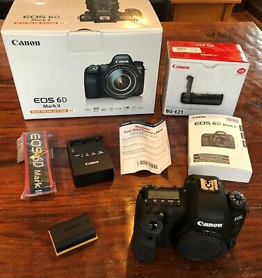 Canon EOS 6D Mark II - (Body Only) Beautiful Condition! Plus Grip!